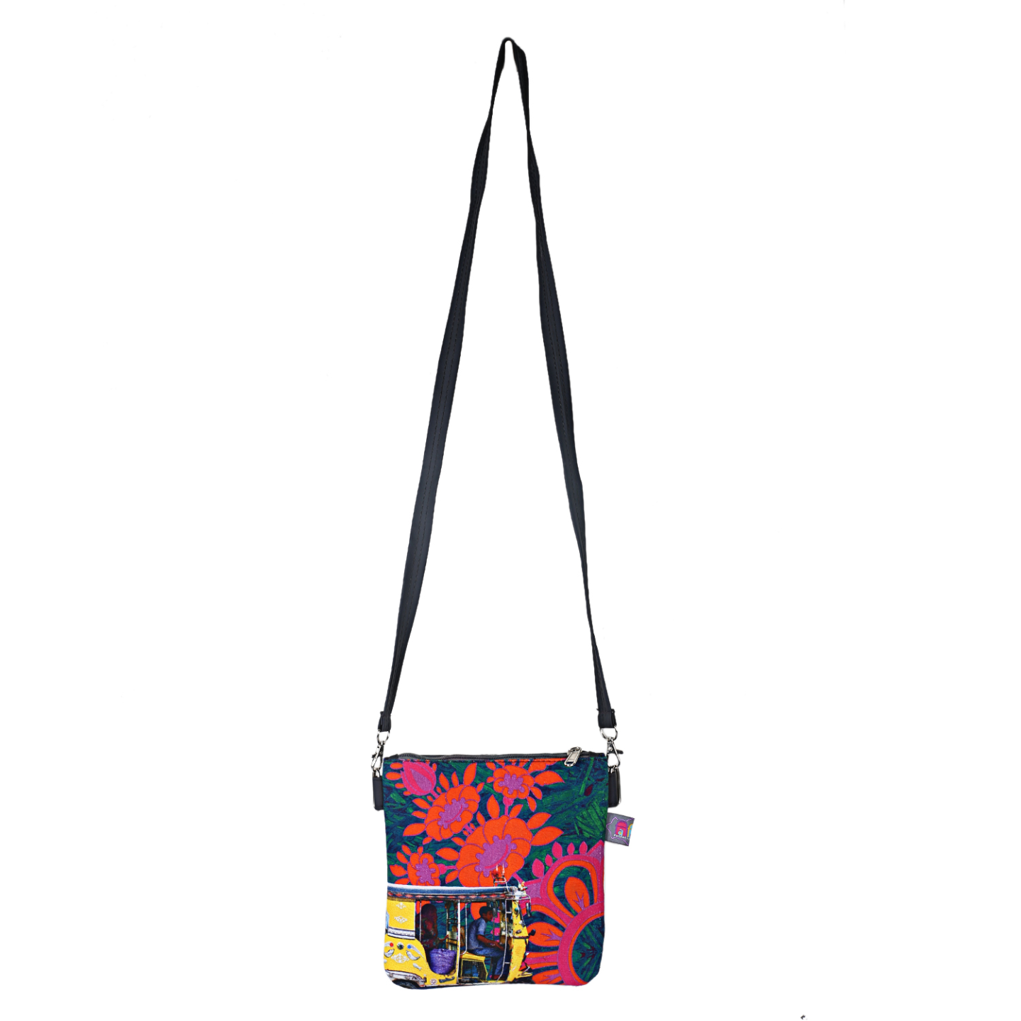 Yellow Taxi Designer Canvas PU Small Sling Bag