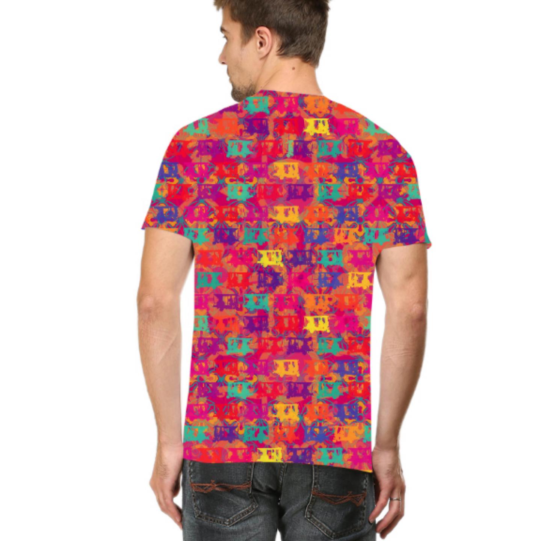 Men Pop Auto Round Neck T-Shirt