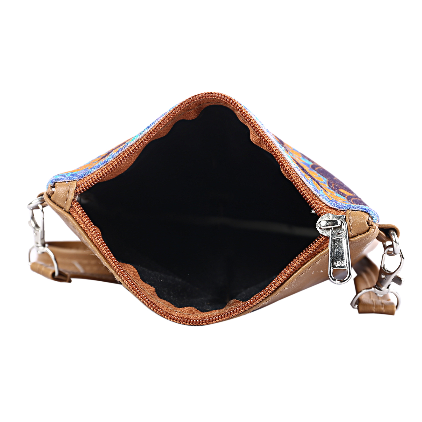 Blooming Flower Canvas PU Small Sling Bag