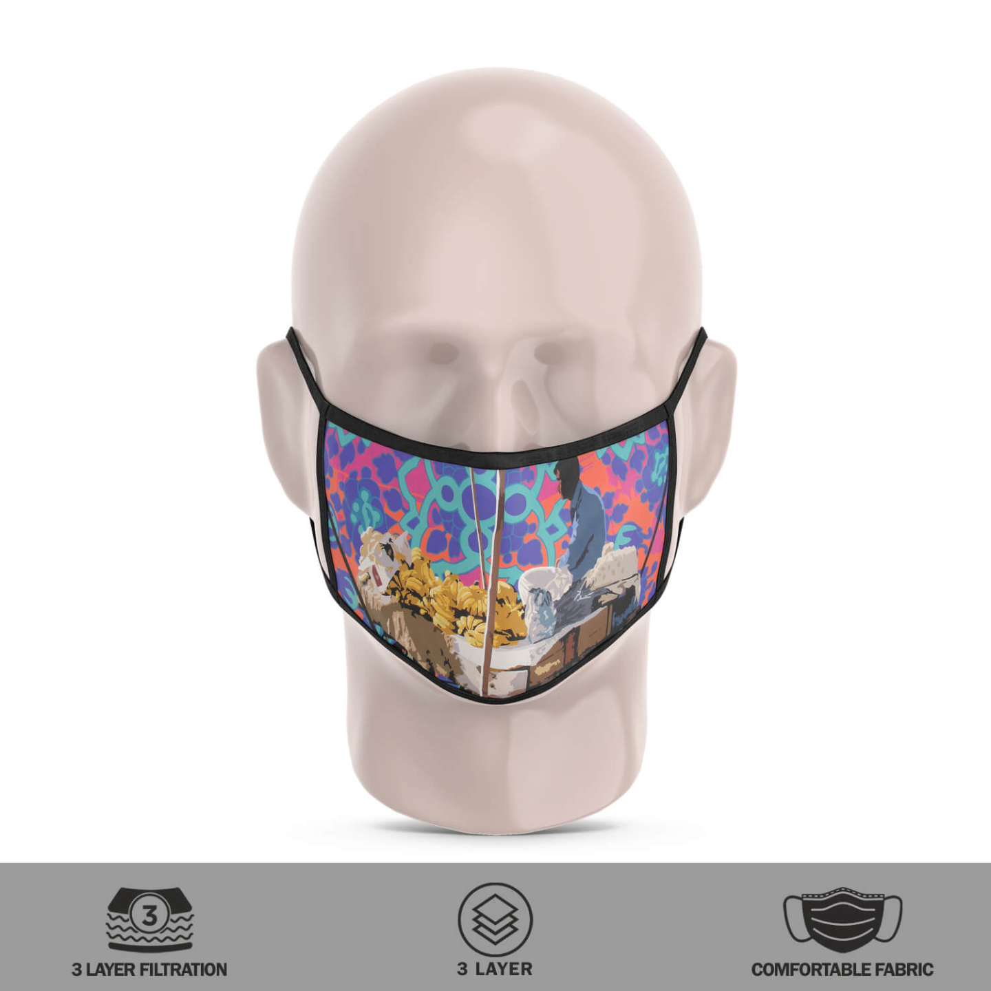 Street Vendor 3 Layer Reusable Face Mask