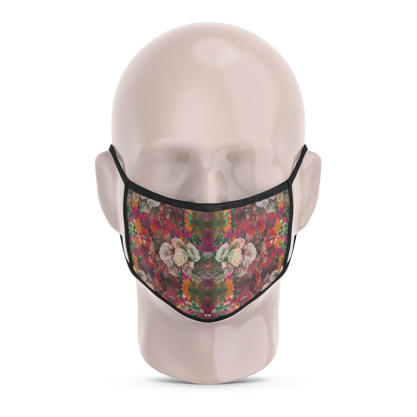 Multicoloured Floral Reusable Printed Face Mask