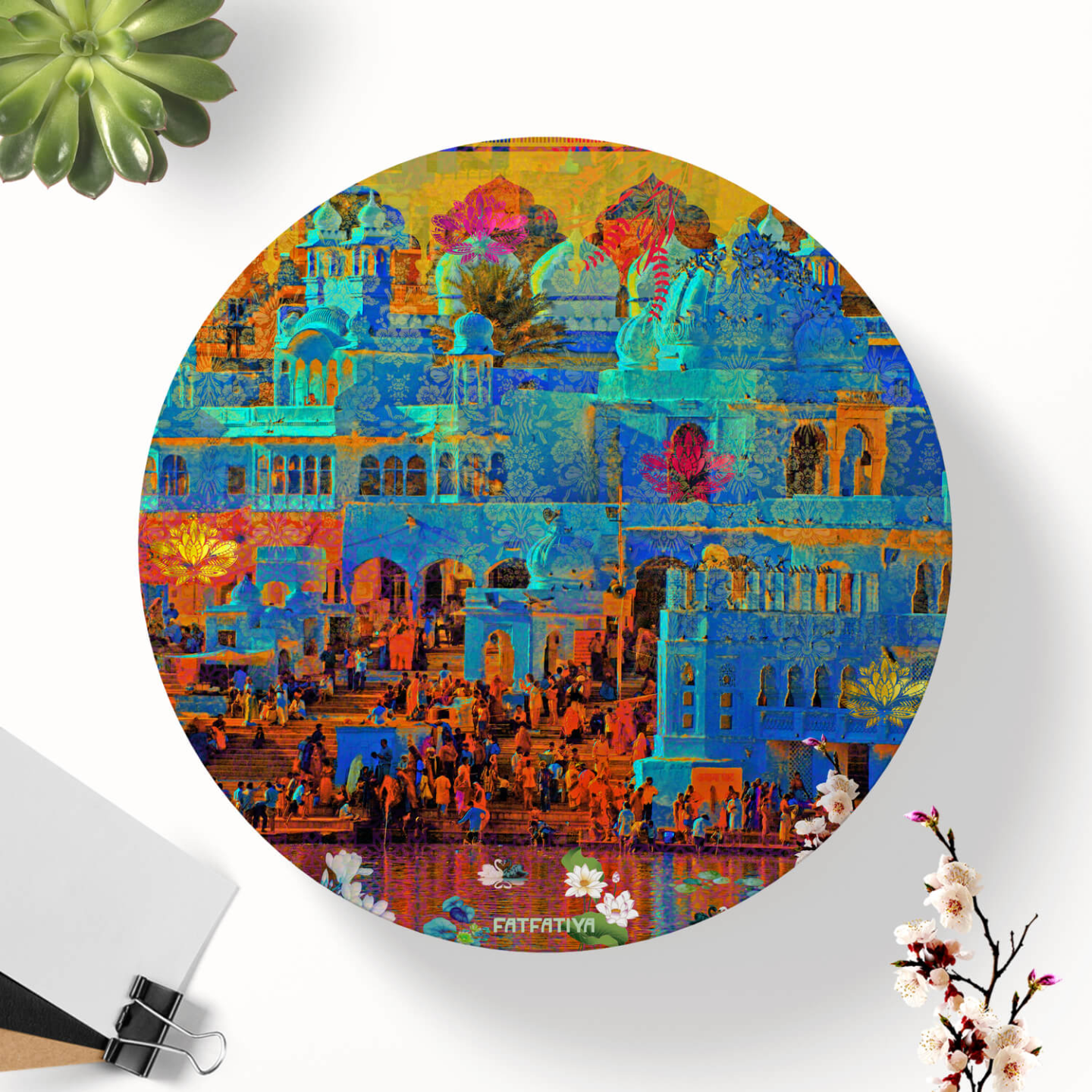Pushkar Lake Table Coaster Set of Six