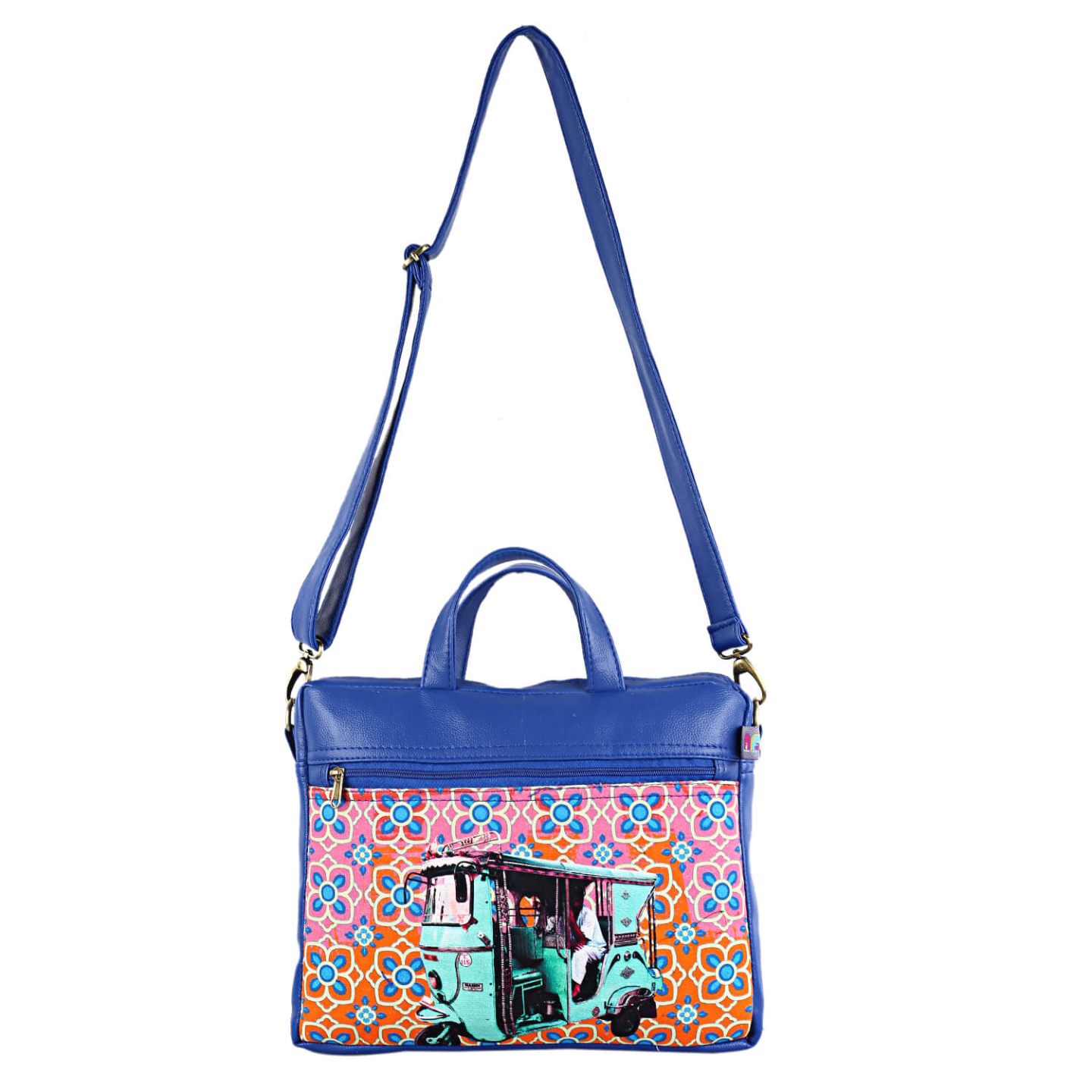 Turquoise Green Auto Canvas PU Laptop Bag