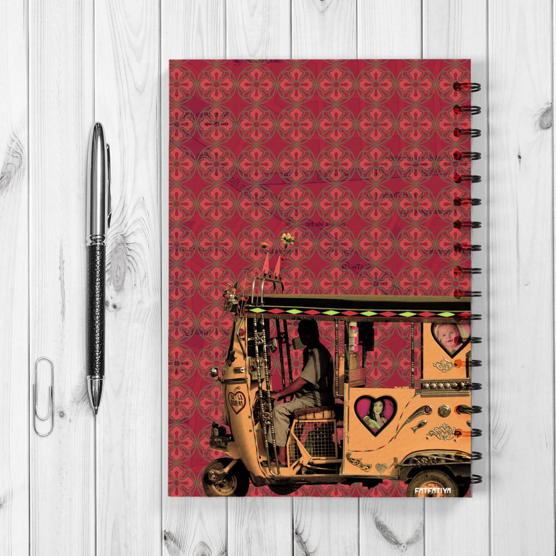 Yellow Auto Rickshaw Spiral Notebook
