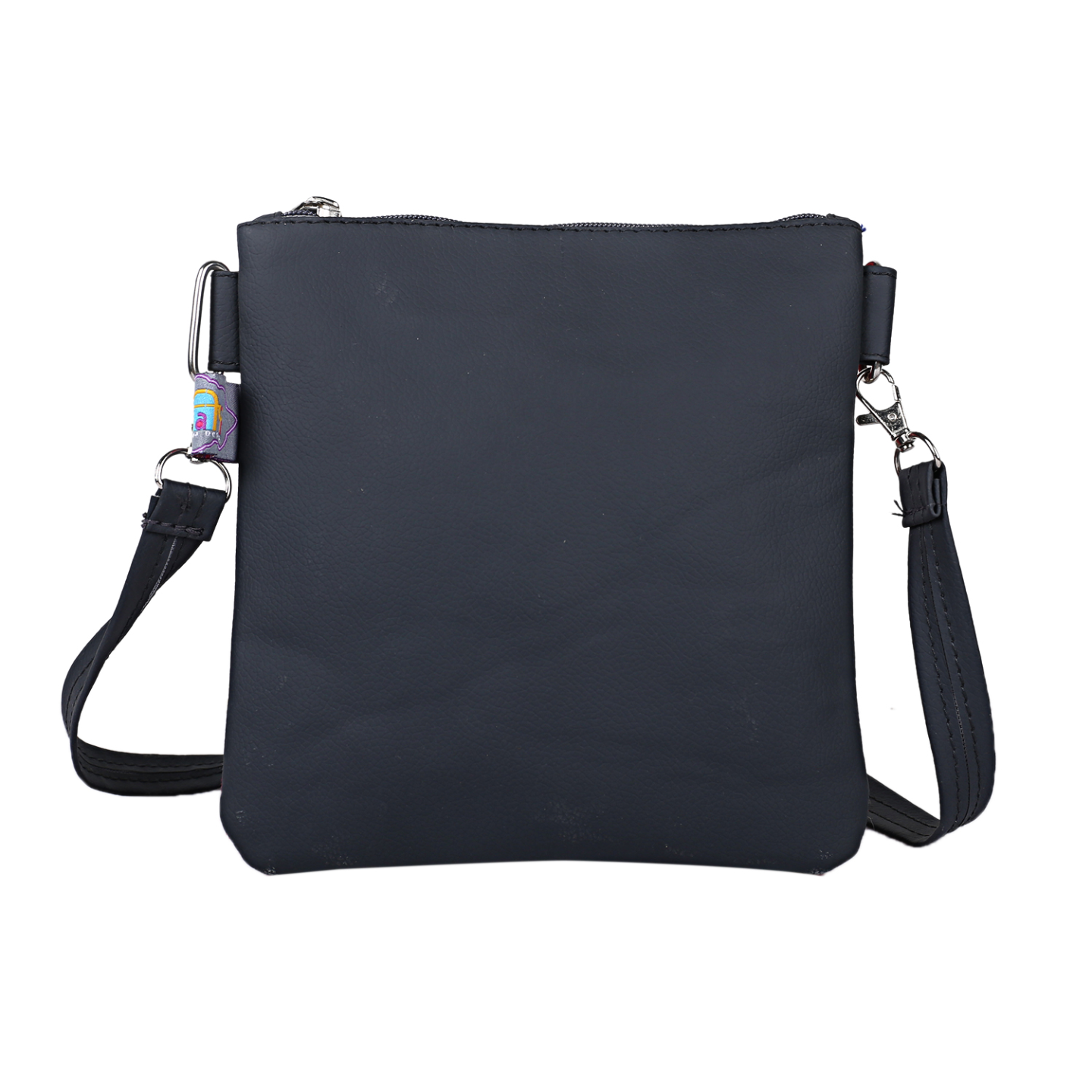 Silver Auto Rickshaw Canvas PU Small  Sling Bag