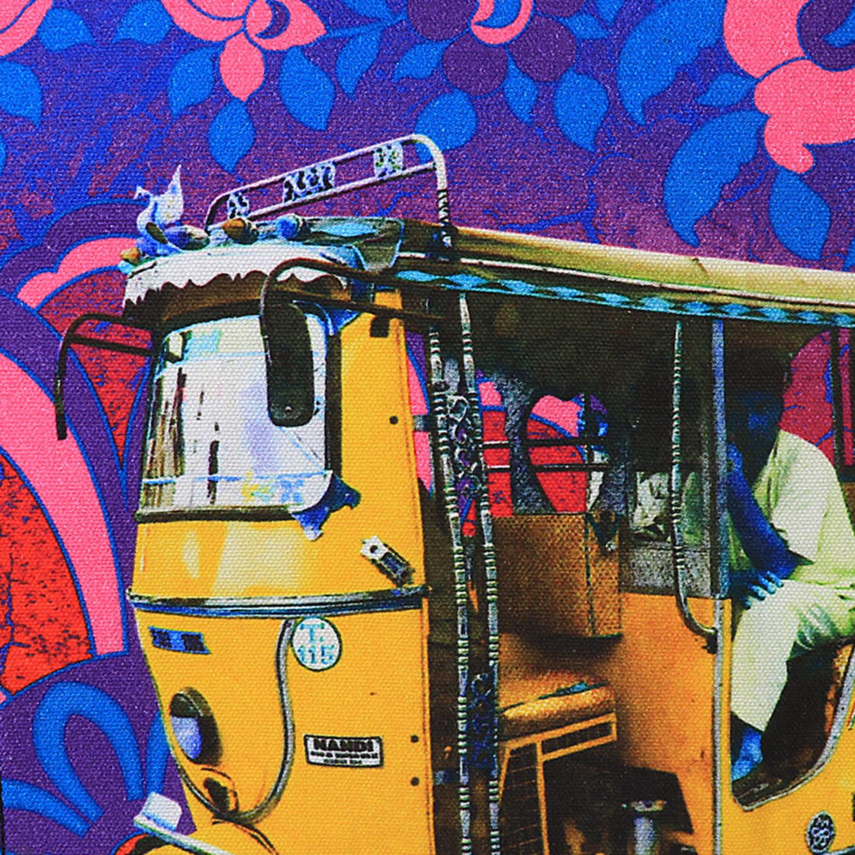 Golden Taxi Canvas PU SlingCrossbody Bag