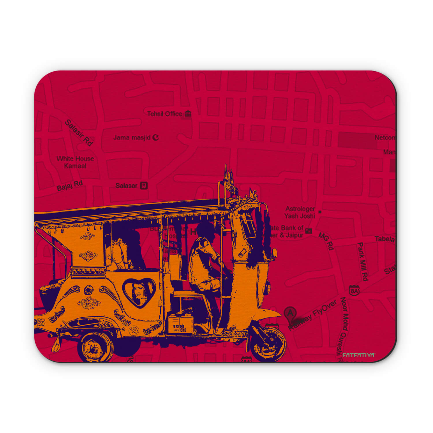Orange Auto/Taxi Mouse Pad