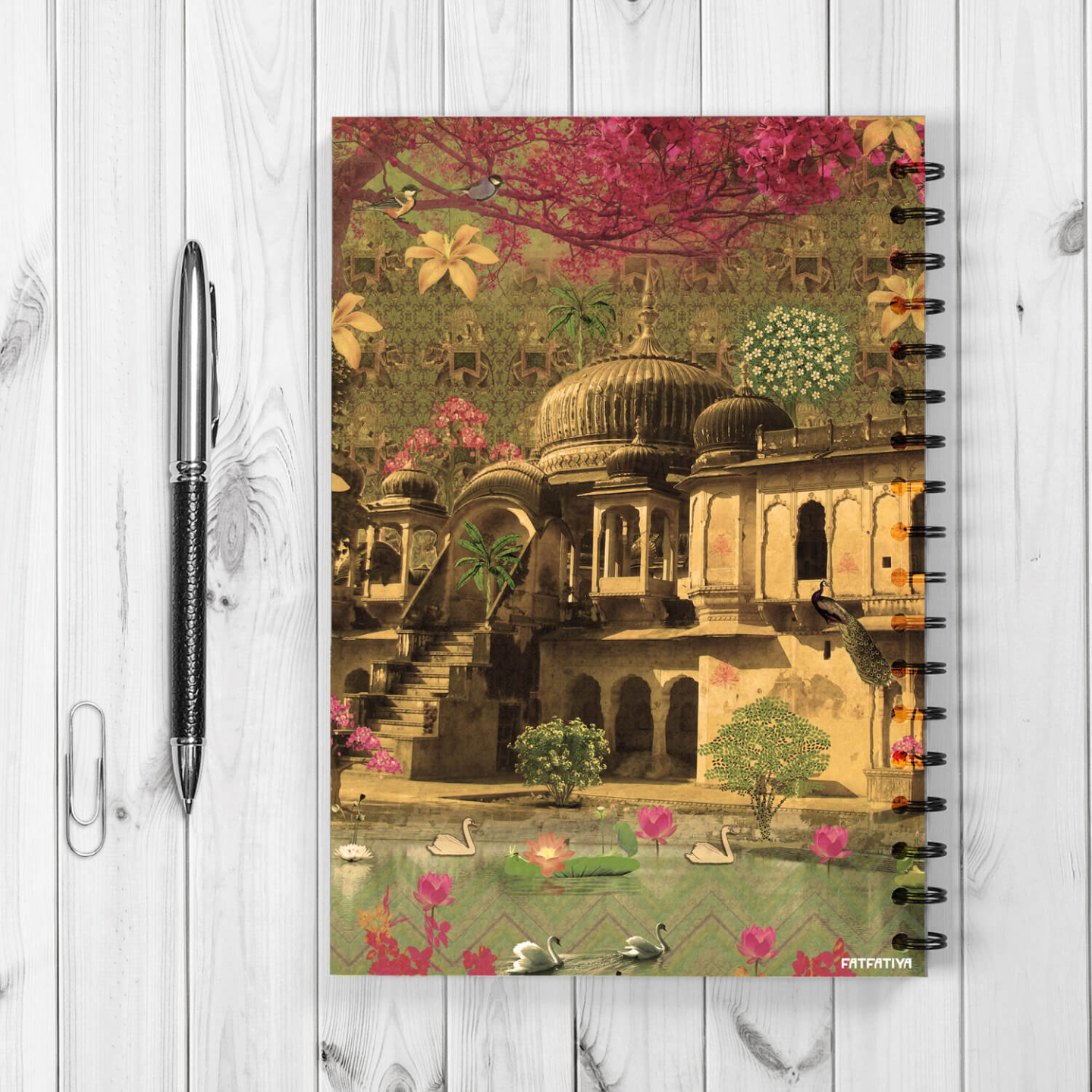 Beautiful Rajasthani Haveli Spiral Notebook