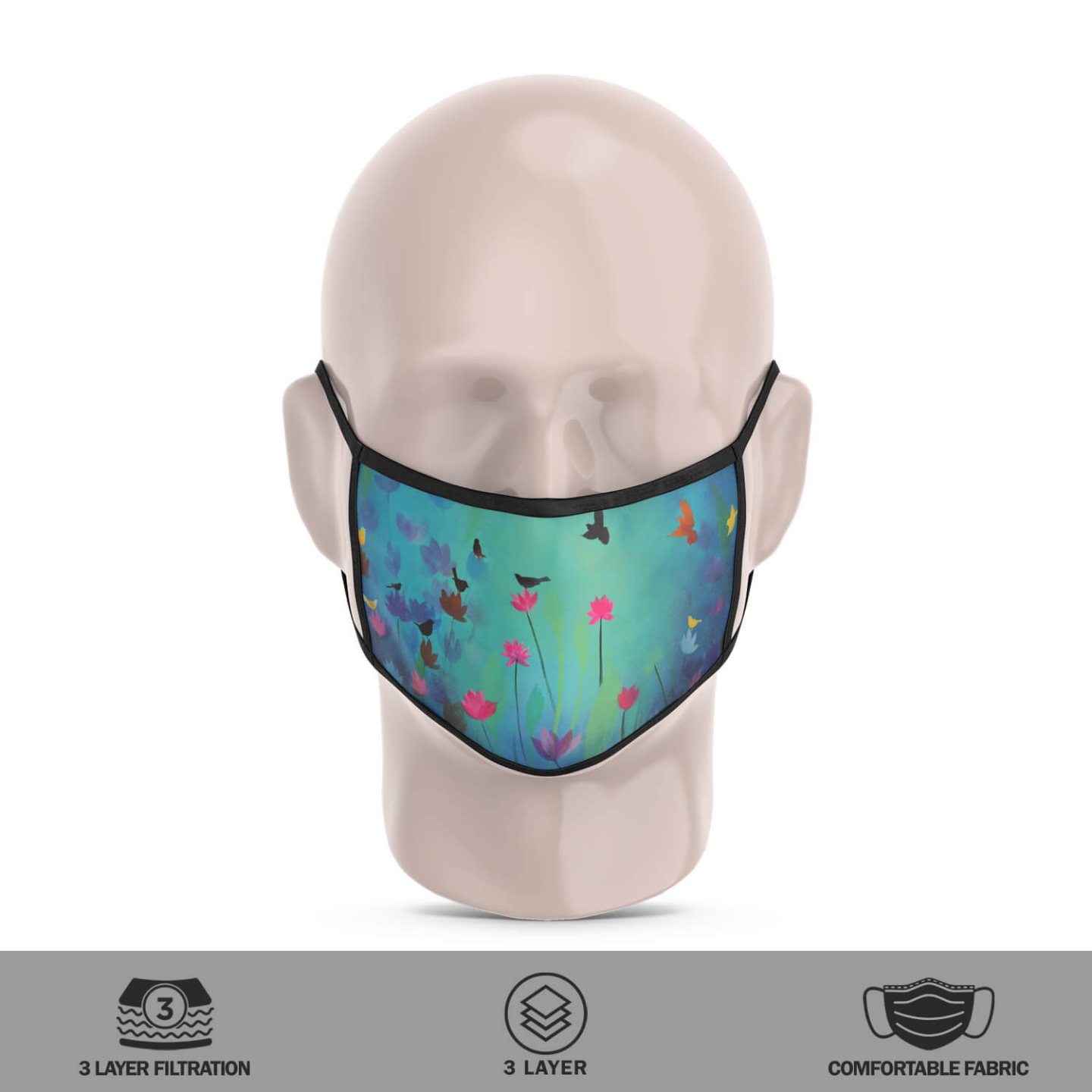 Song of the Song Reusable Face Mask - Priyanka Waghela