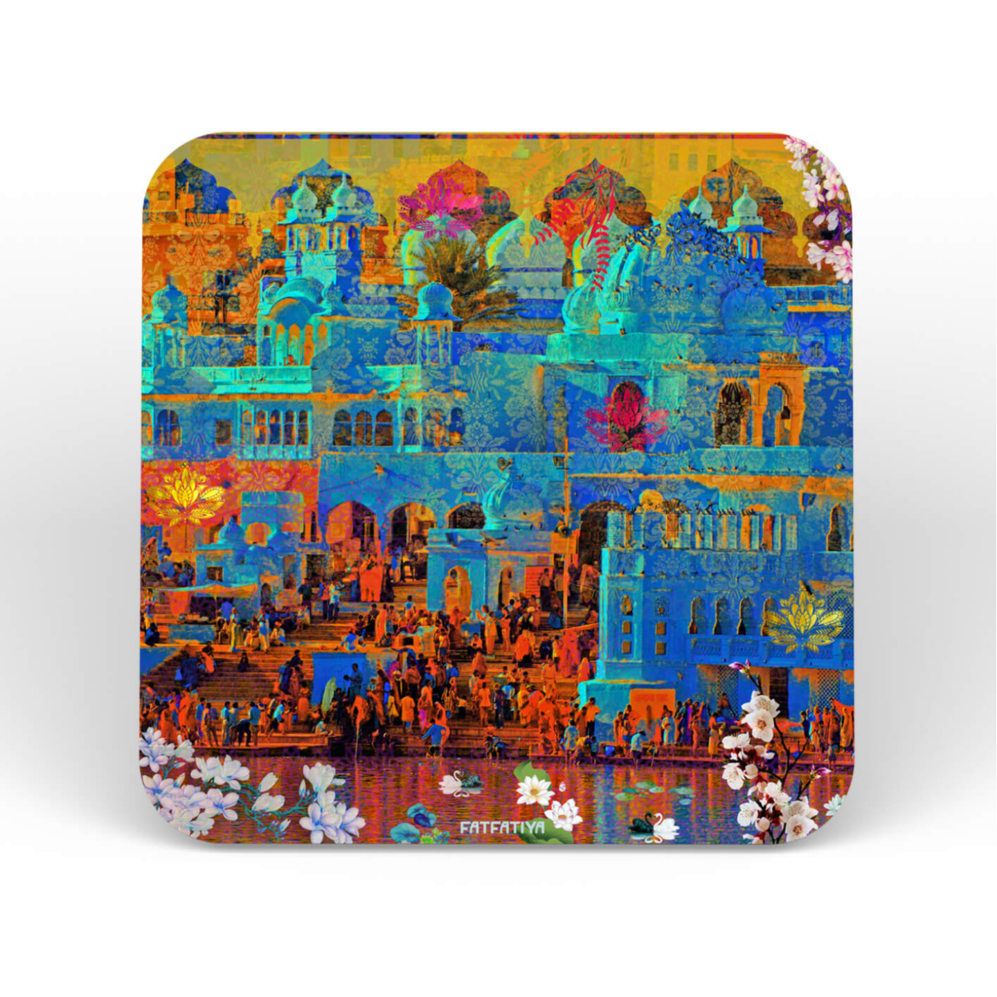 Indian Heritage Structures Table Coaster Set of Six
