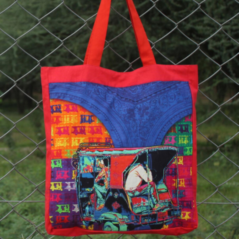Funky Taxi Jhola BagShopping Bag