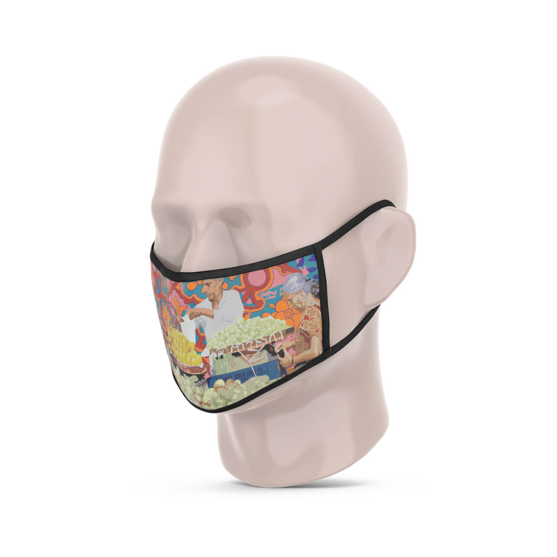 Fruit Vendor 3 Layer Reusable Face Mask