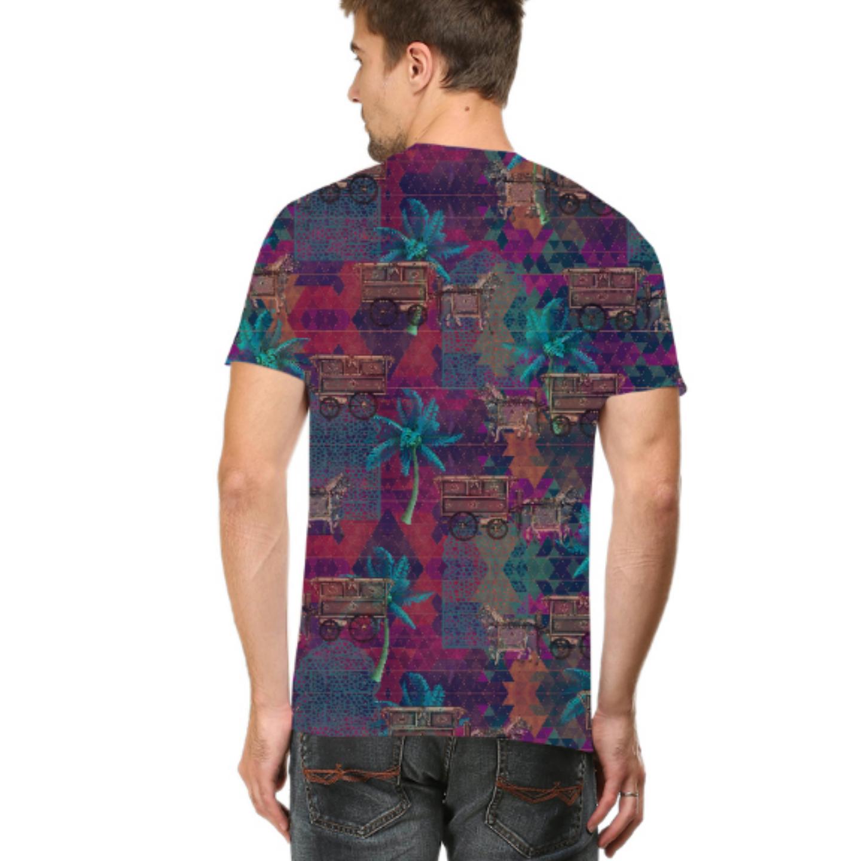 Men Multicoloured Stylish Round Neck T-Shirt
