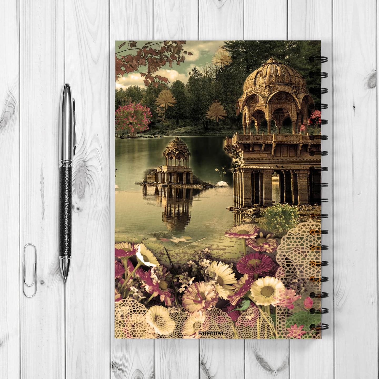 Beautiful Gadisar Lake Spiral Notebook