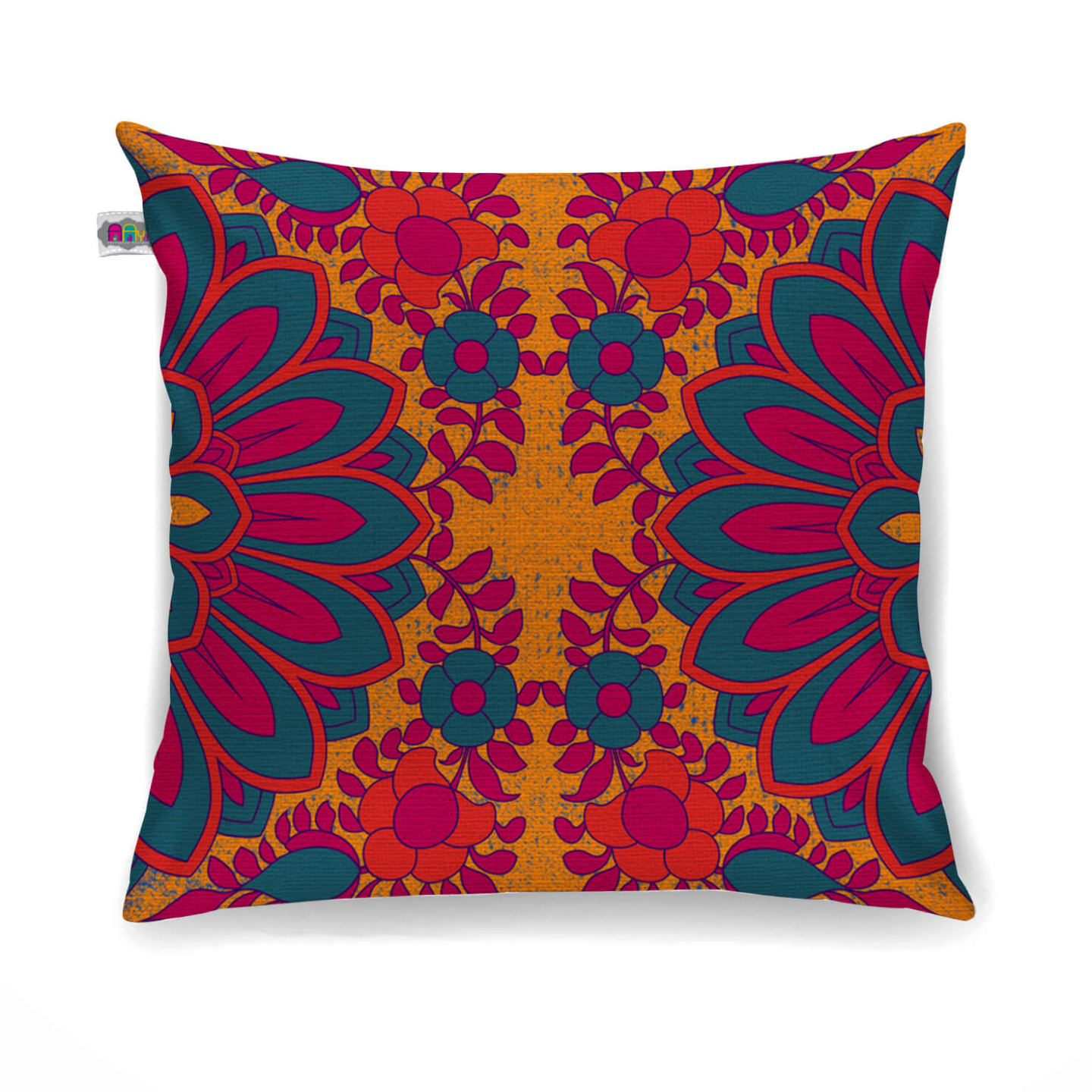 Splendid Flower Motif Cushion Cover Set of 2
