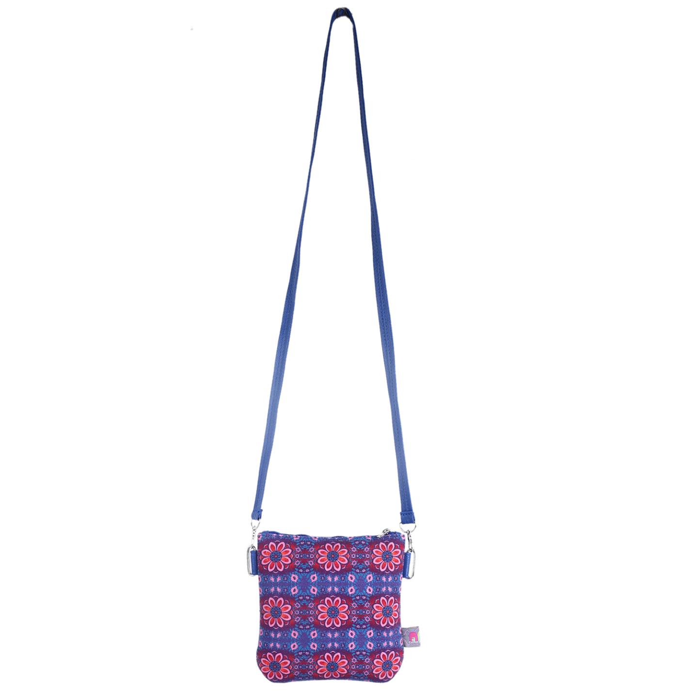 Sparkling Flower Canvas PU Small Sling Bag