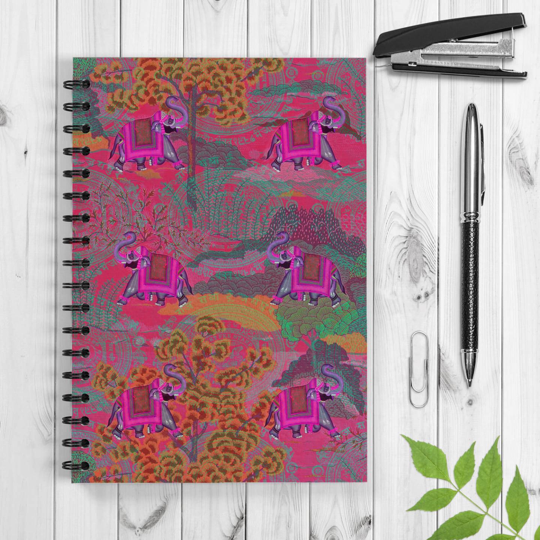 Rajasthani Haathi Spiral Notebook/Notepad