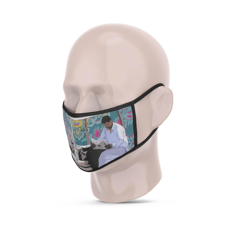 Kulfi Seller 3 Layer Reusable Face Mask