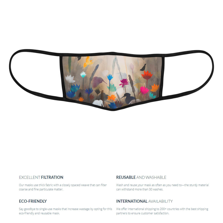 Song from Flower Reusable Face Mask - Priyanka Waghela