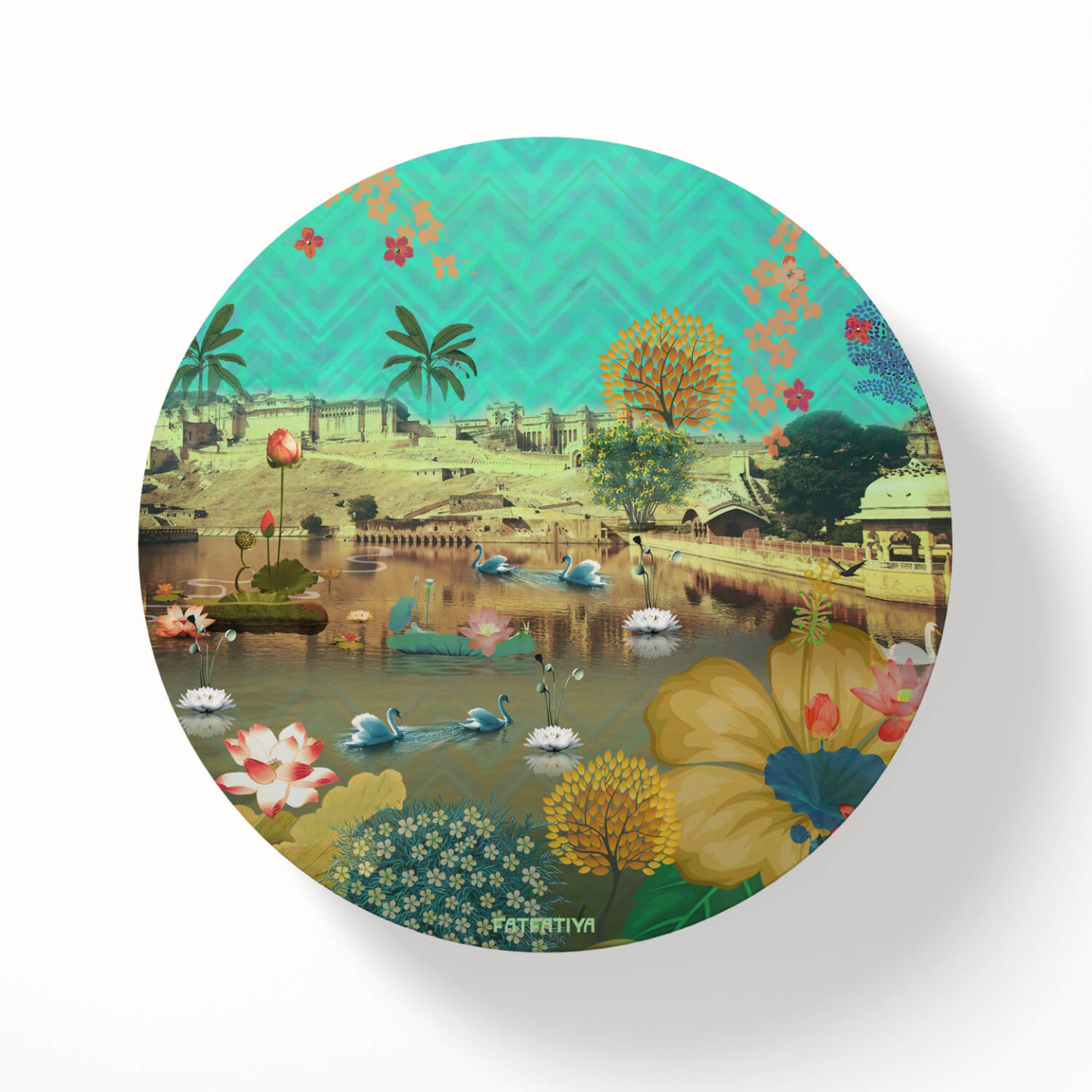 Amer Lake & Fort Table Coaster Set of Six