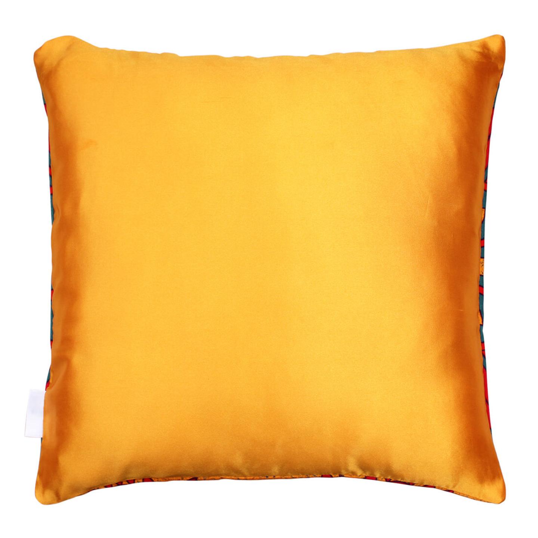 Dazzling Flower Motif Cushion Cover
