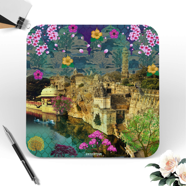 Rajasthani Heritage Fort Themed Table Coaster Set of Six