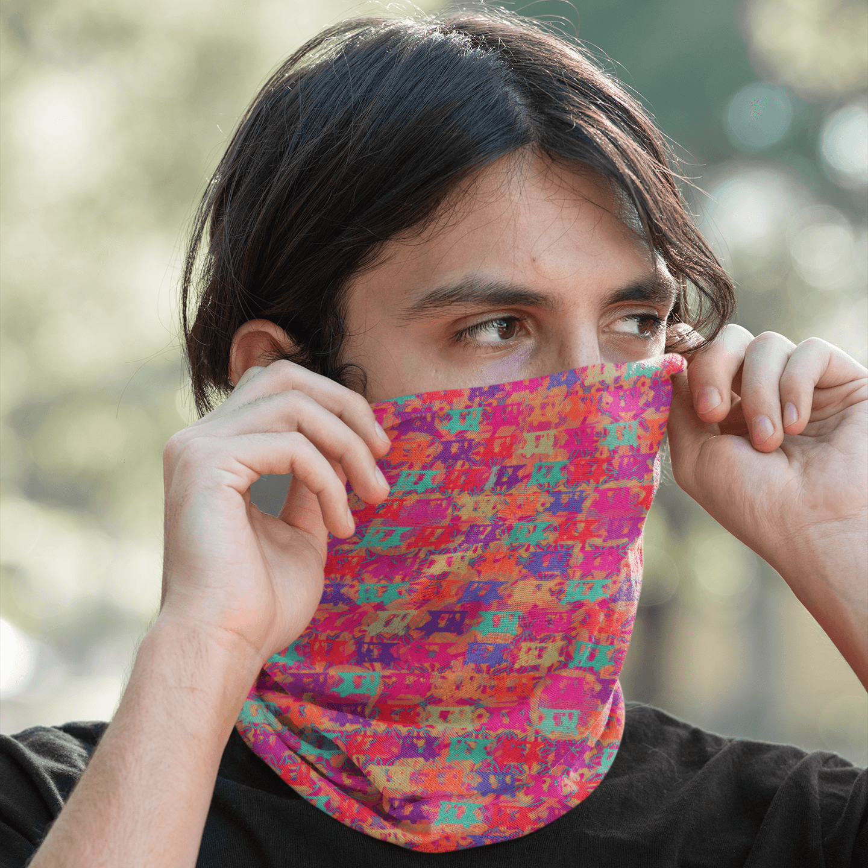 Pop Taxis Unisex Printed Bandana Mask/Neck Gaiter