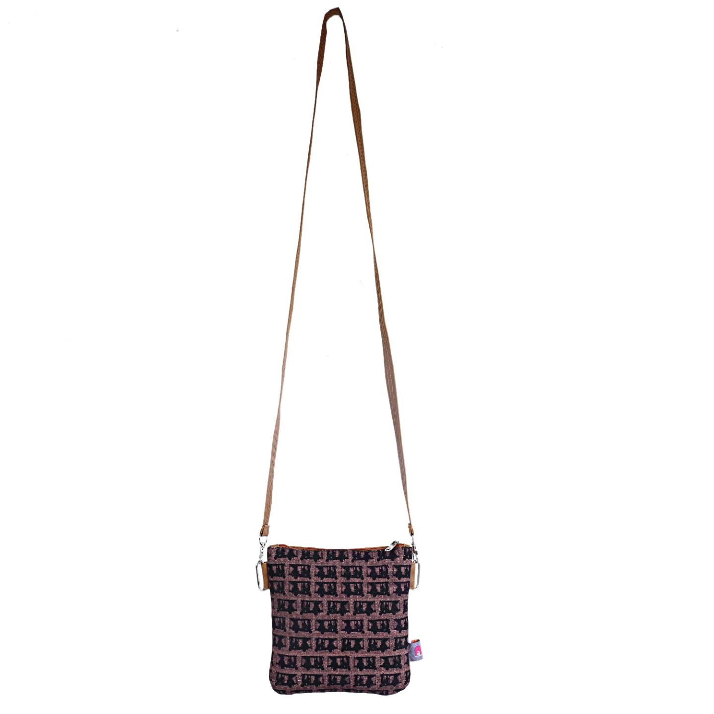 Auto Pattern Designer Canvas PU Small Sling Bag