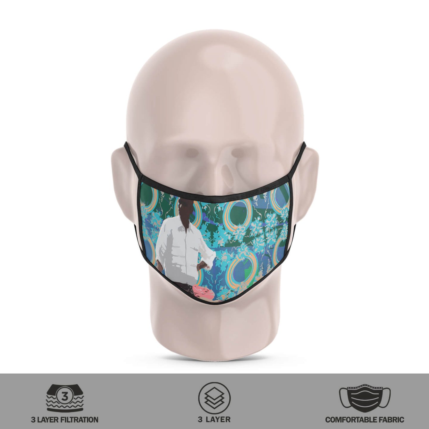 Snack Seller 3 Layer Reusable Face Mask