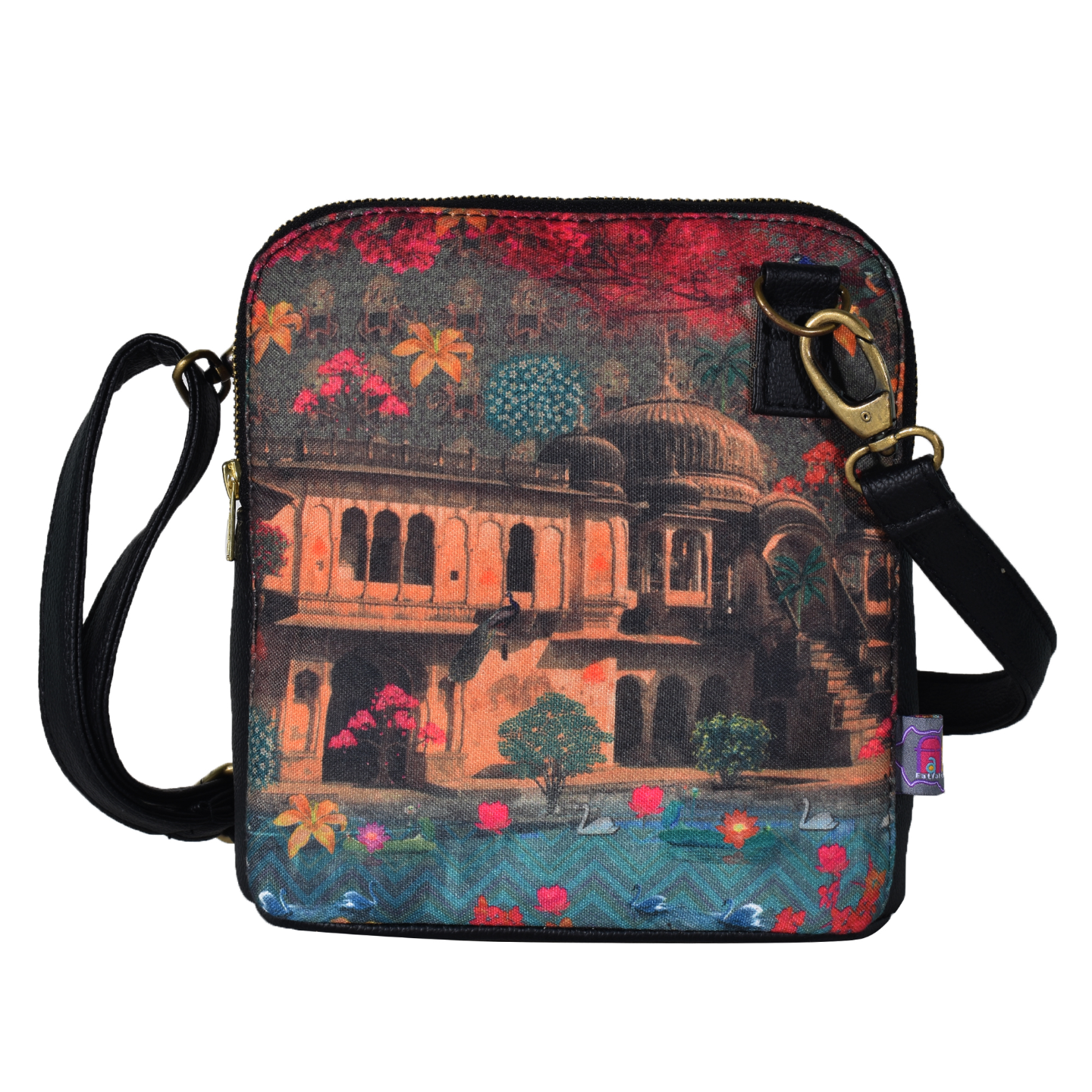 Fort in a Lake Crossbody Bag For Women And Girls