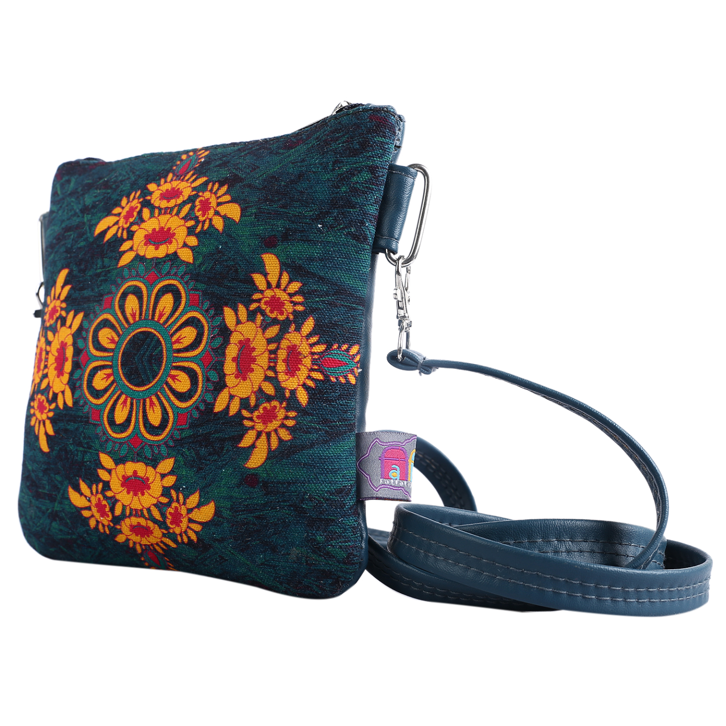 Gorgeous Flower Canvas PU Small Sling Bag