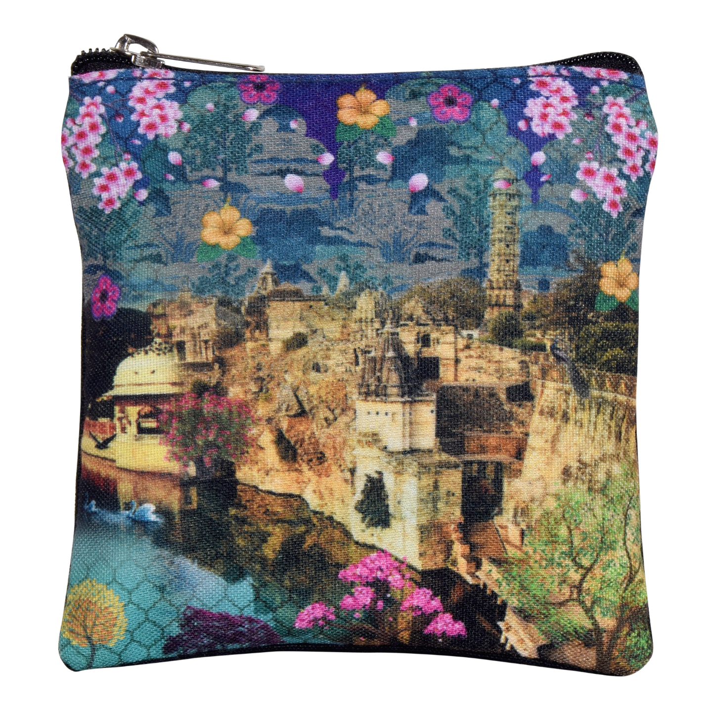 Rajasthani Heritage Fort  Poly Canvas Coin Pouch