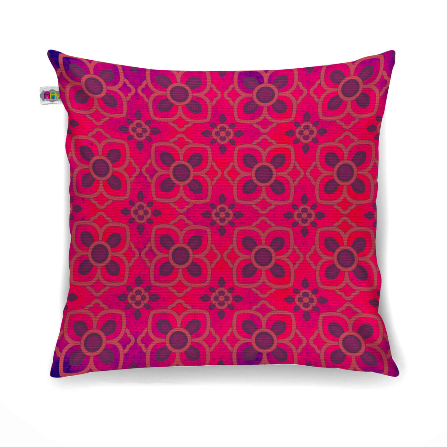 Enchanting Flower Motif Cushion Cover Set of 2