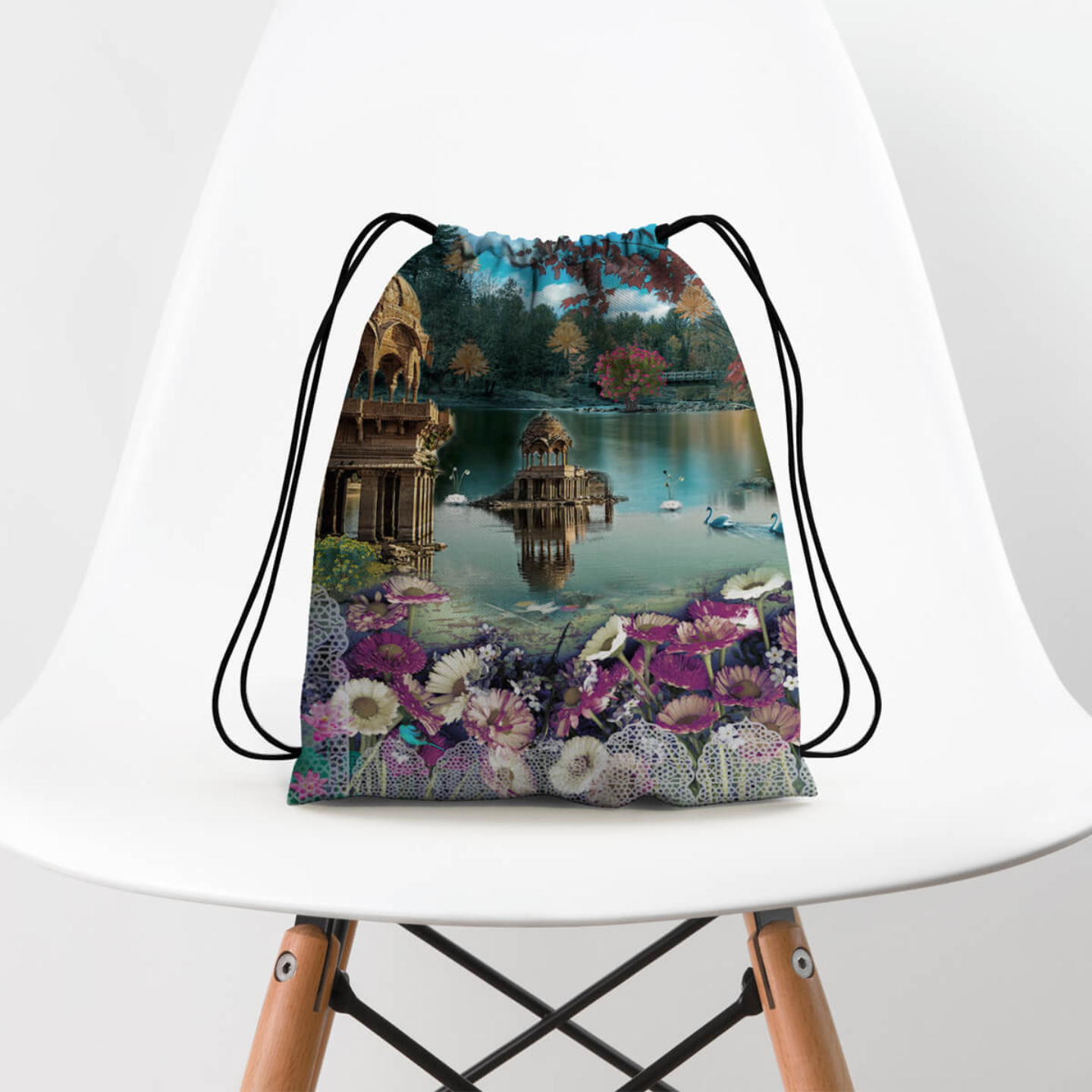 Gadisar Lake Drawstring Bag
