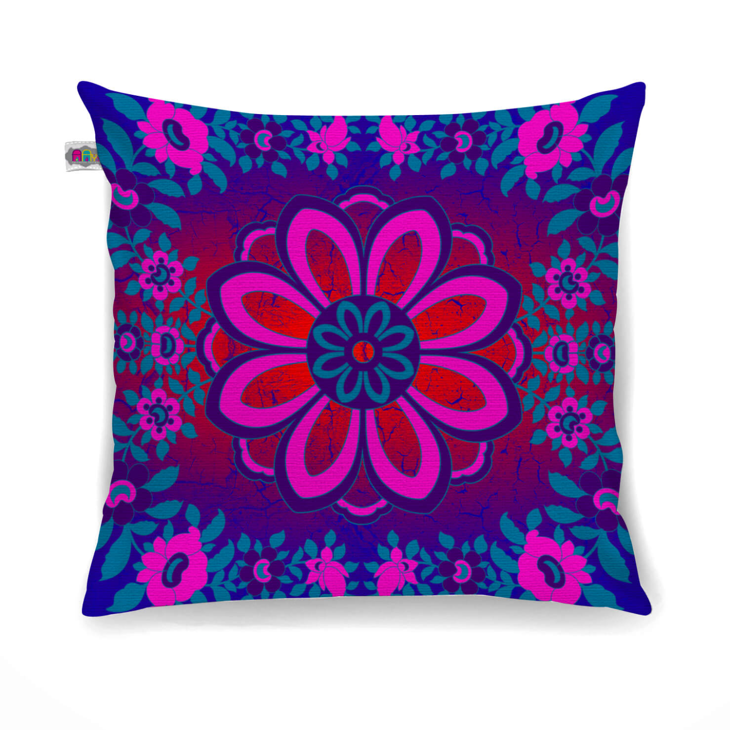 Sparkling Flower Motif Cushion Cover Set of 2