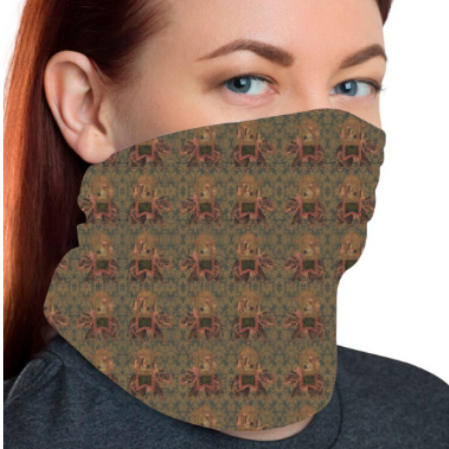 Brown Multicoloured Unisex Bandana Mask
