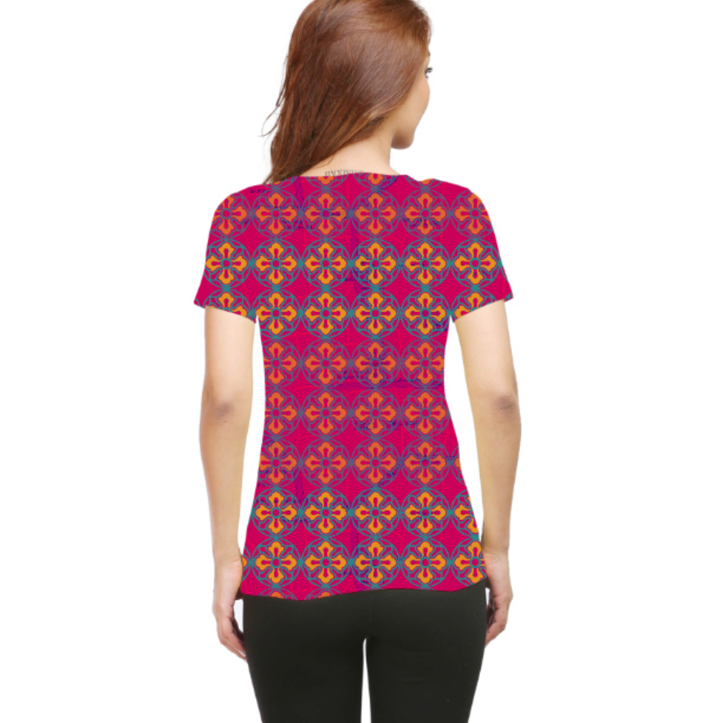 Women Sublime Flower Round Neck T-Shirt