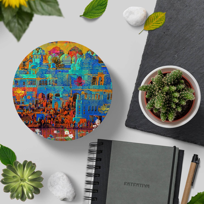 Pushkar Lake Table Coaster Set of Six