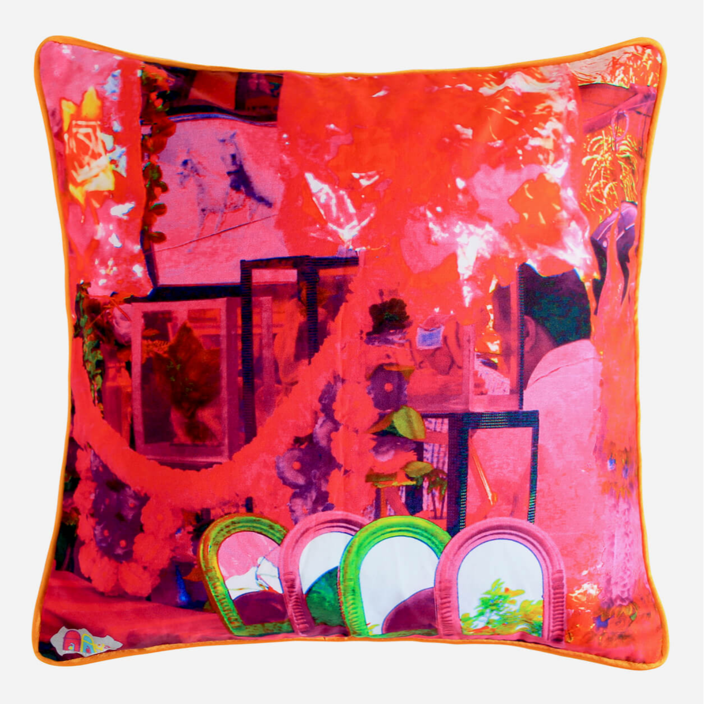 The Mirror Glaze Cotton Cushion Cover 16x16 Inches