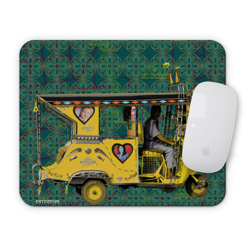 Yellow Auto Rickshaw Mouse Pad