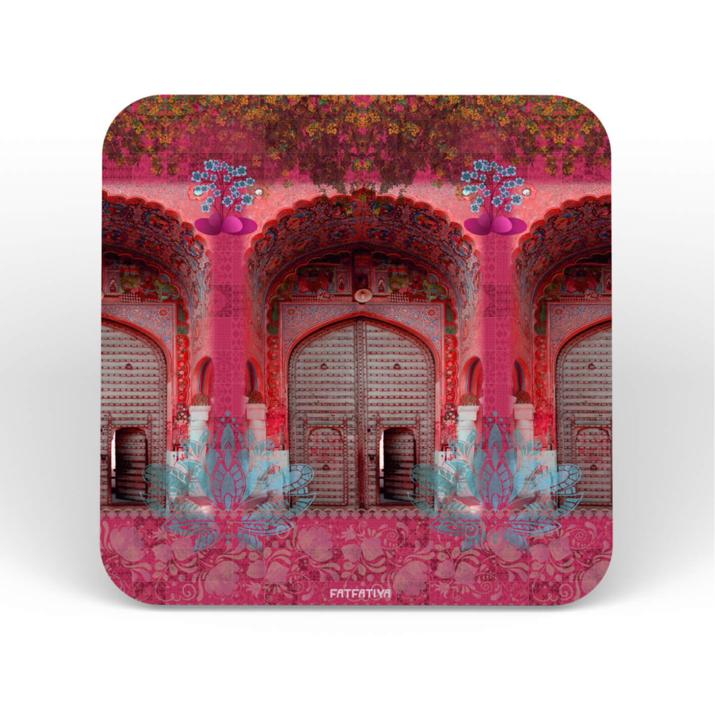 Flower on the Fort Themed Table Coaster Set of Six