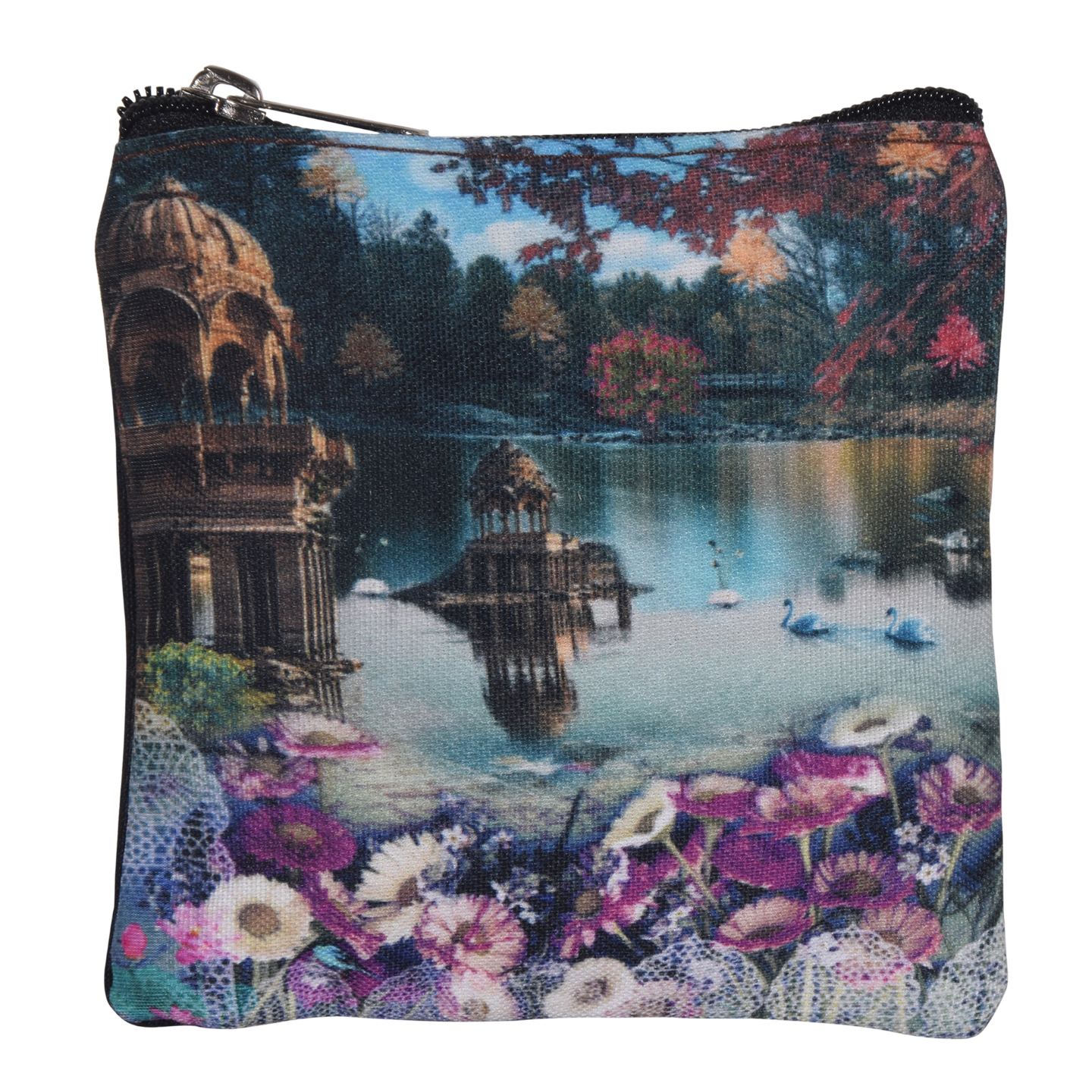 Gadisar Lake Poly Canvas Coin Pouch