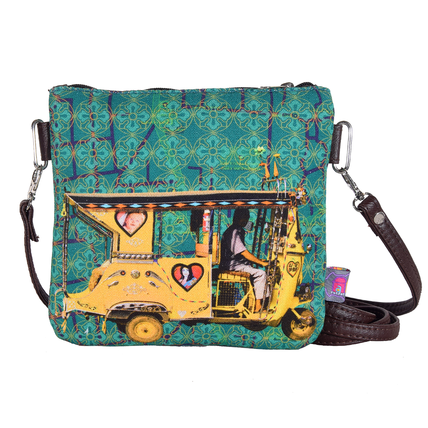 Yellow Auto Rickshaw Small Sling Bag