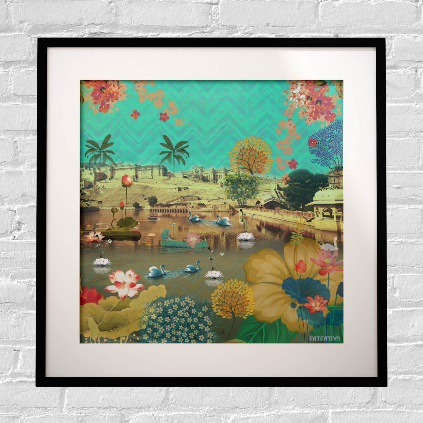 Beautiful Lakeside Framed Art Print