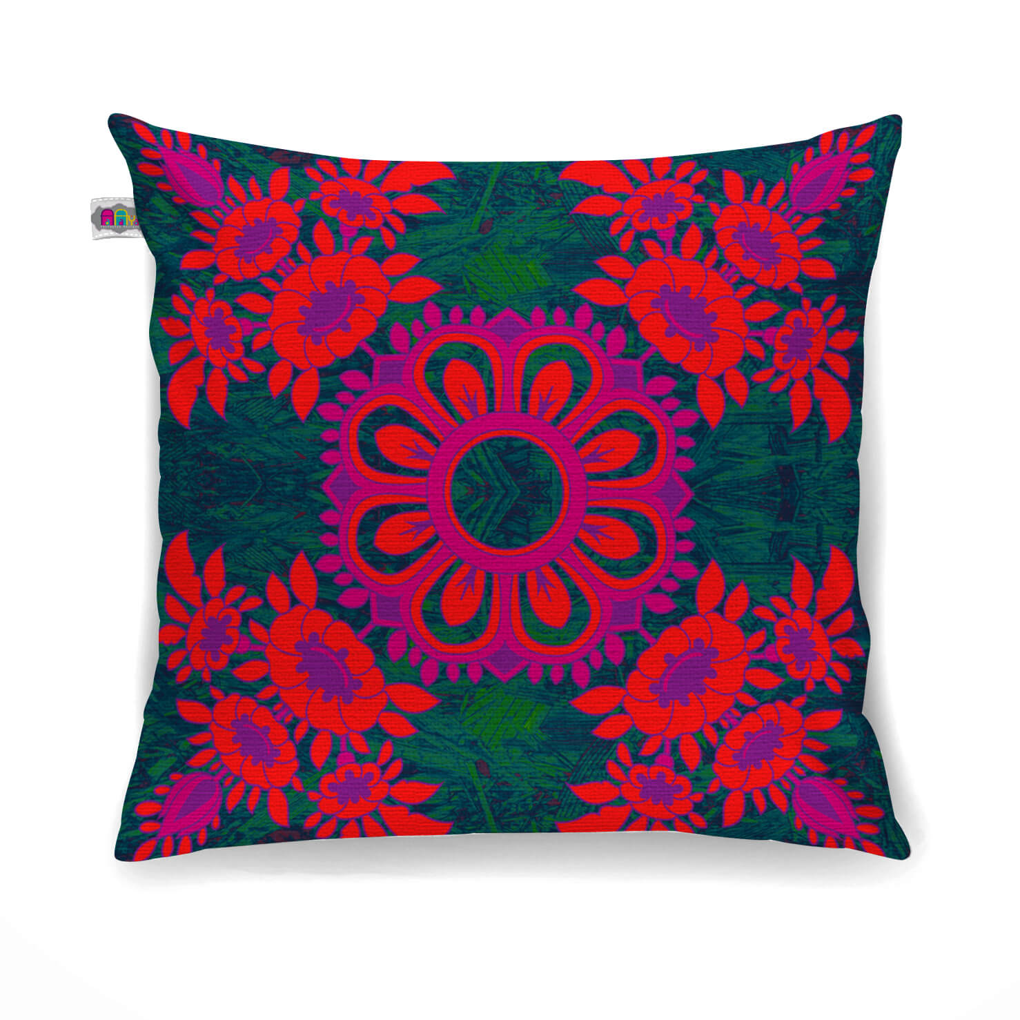 Magnificent Flower Motif Cushion Cover Set of 2