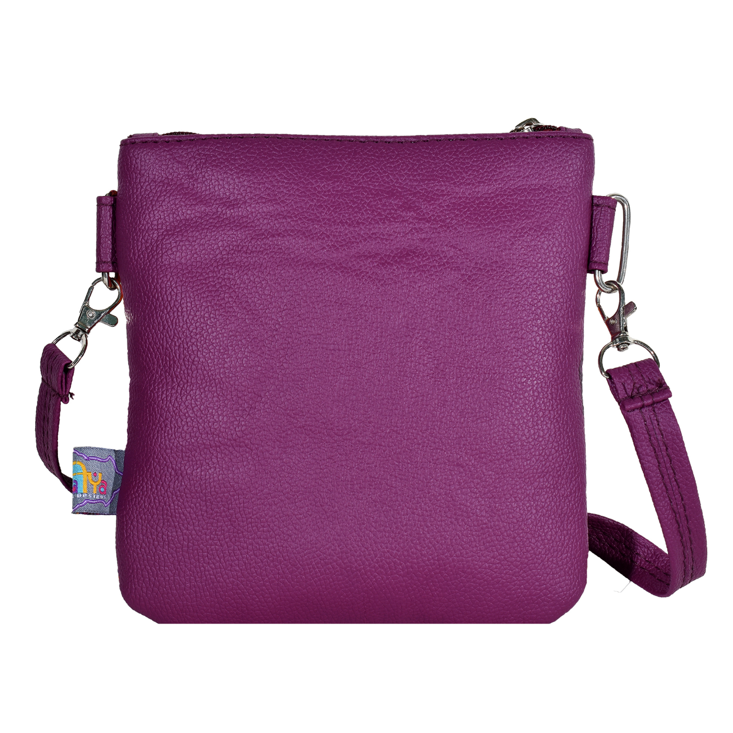 Delicate Flower Canvas PU Small Sling Bag
