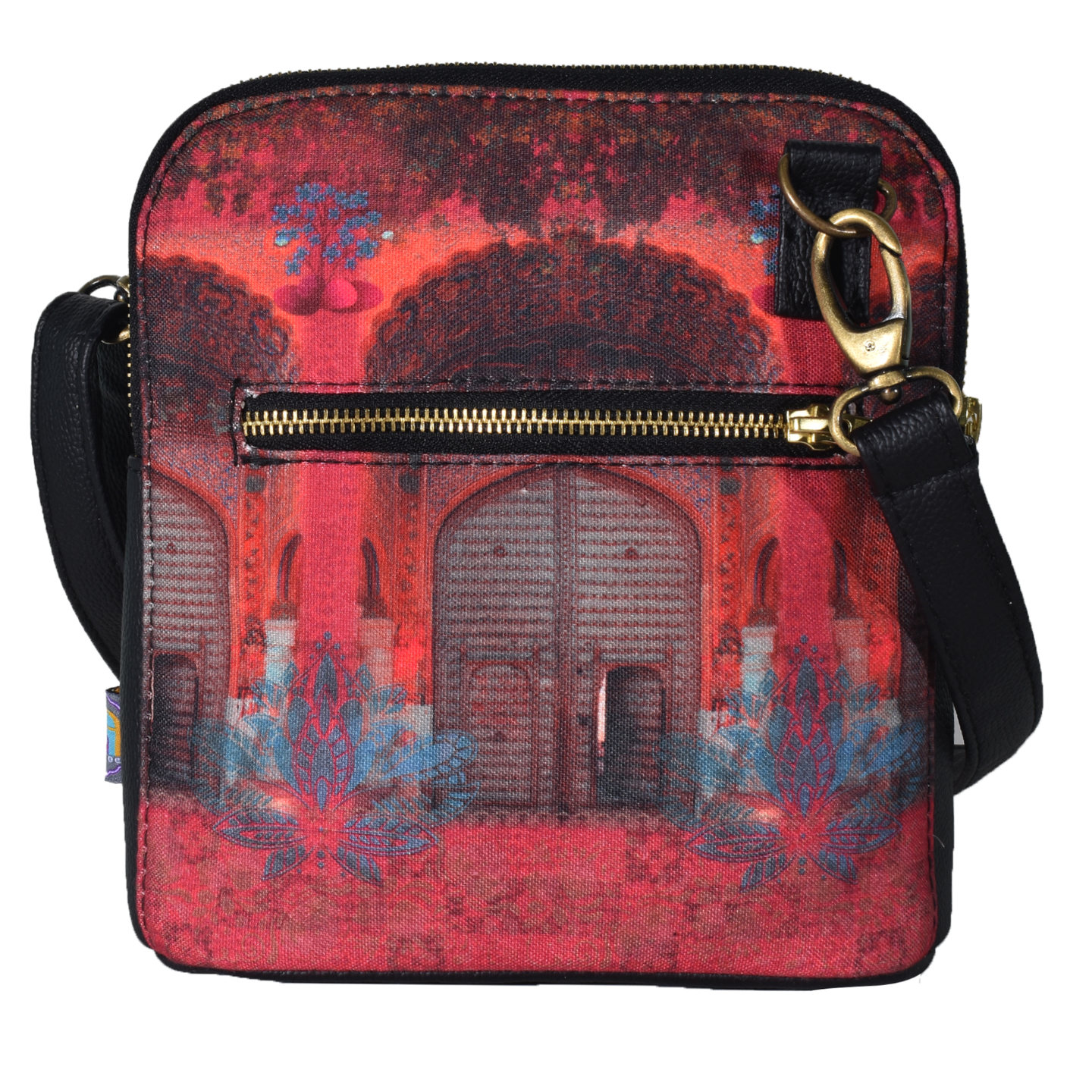 Pink Royal Door Design Crossbody Bag For Women And Girls