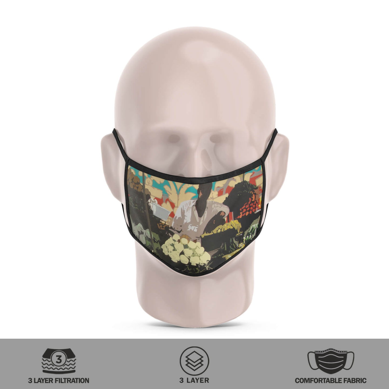 Vegetable Seller 3 Layer Reusable Face Mask