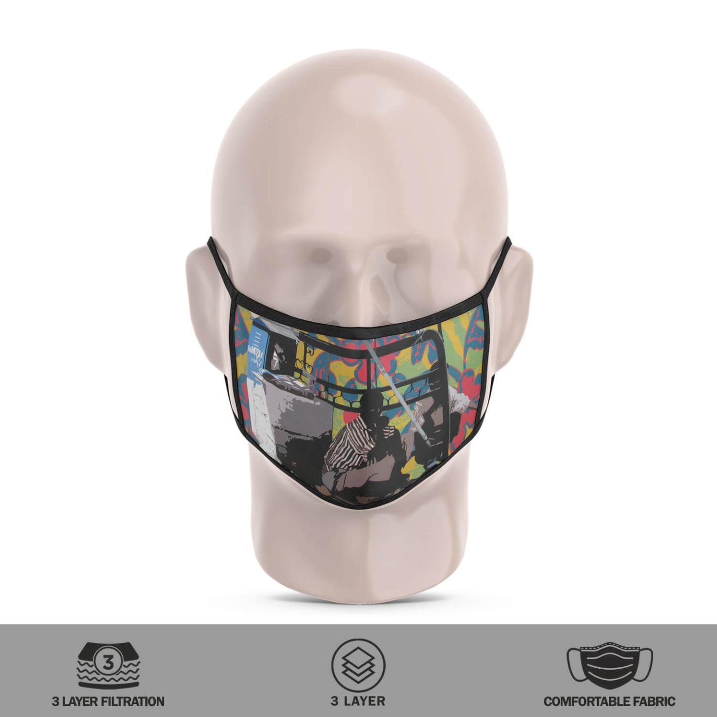 Cobbler 3 Layer Reusable Face Mask
