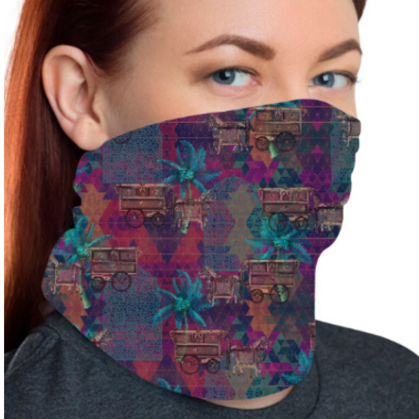 Multicoloured Floral Unisex Bandana Mask